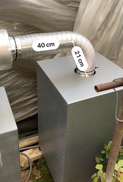 農業ハウス用暖房機「マグヒーター」